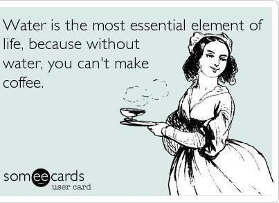 I believe water is the most essential element of life, because without water you can't make coffee! #ExpressoYourself