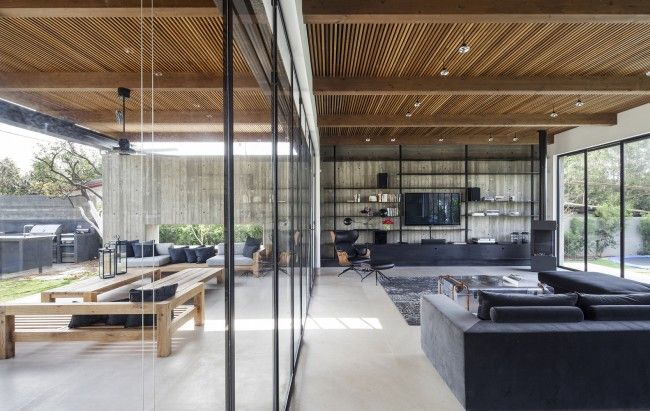 Beton hout staal huis google zoeken sfeer pinterest search - Huis roestvrij staal ...