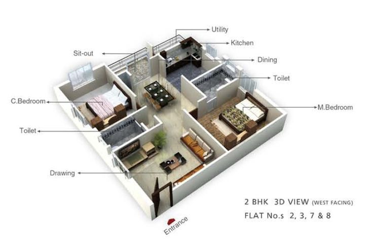 24 best flexible design images on pinterest property for for Apartment plans hyderabad