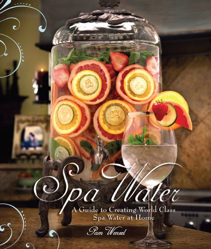 Spa water recipes!  It always tastes so refreshing at the spa, but I never think to have it at home.  Maybe this would inspire me to drink more water.