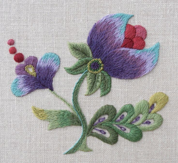 Crewel Embroidery Kit - 'Purple Grace' (45.00 AUD) by FineStitchStudio