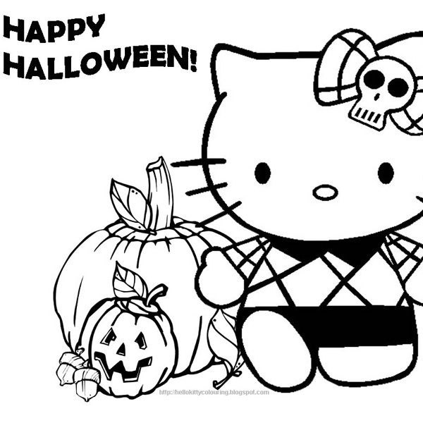 15 best coloring pages images on Pinterest Halloween coloring - best of coloring pages hello kitty birthday