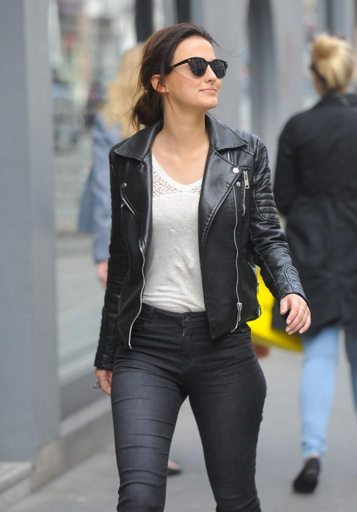 Lucy Watson leaving the Riding House Cafe