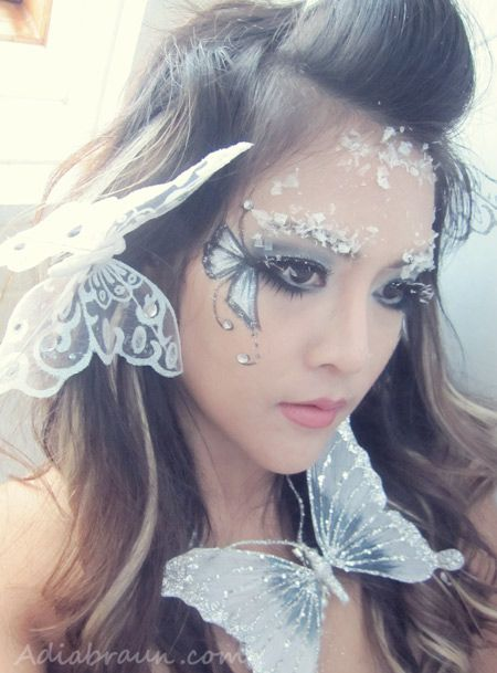 Fairy Makeup | Glitter & ice snow Butterfly Fairy Makeup | Adia Braun