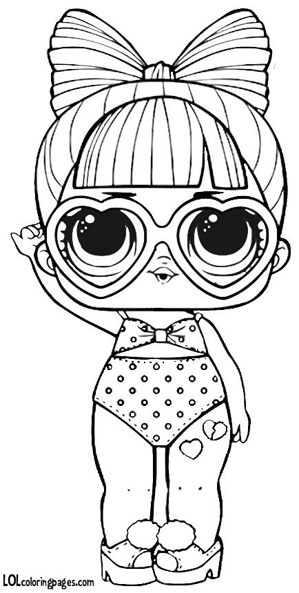 Spf Q T Series 3 L O L Surprise Doll Coloring Page Stamps