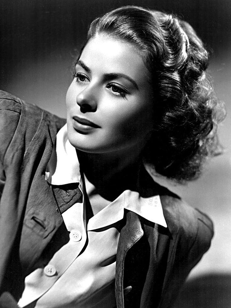 Ingrid Bergman, 1940. Collezione leggerissimi: http://www.leggerissimi.it/it/modelli-occhiali-senza-montatura/donna/vista/ingrid.php