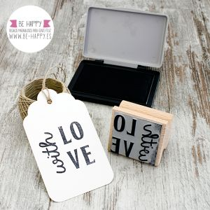 "Sello ""Whit Love"". € 7.50. www.be-happy.es. #sellosdecaucho #rubberstamp #design #decoracion #handmade #stamp #stamps #sellodecaucho #scrapbooking #scrap #scrapbook #DIY"