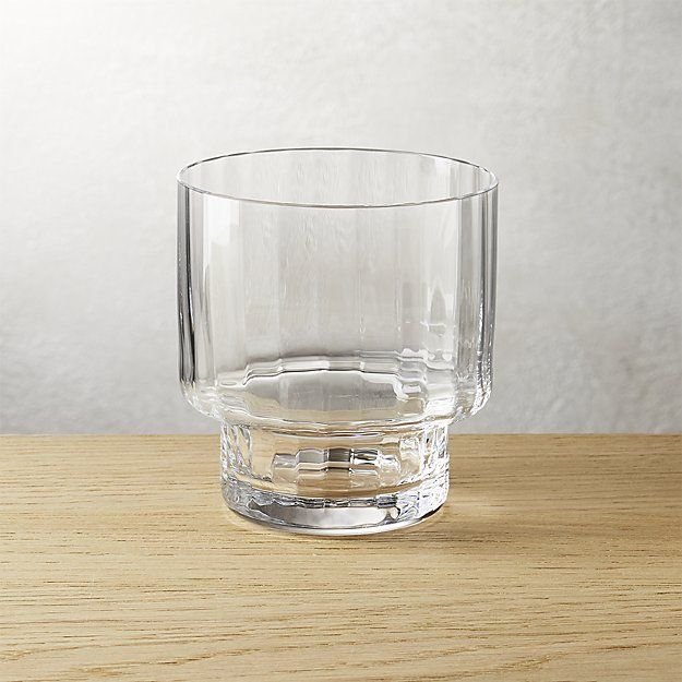 top heavy optic double old-fashioned glass | CB2