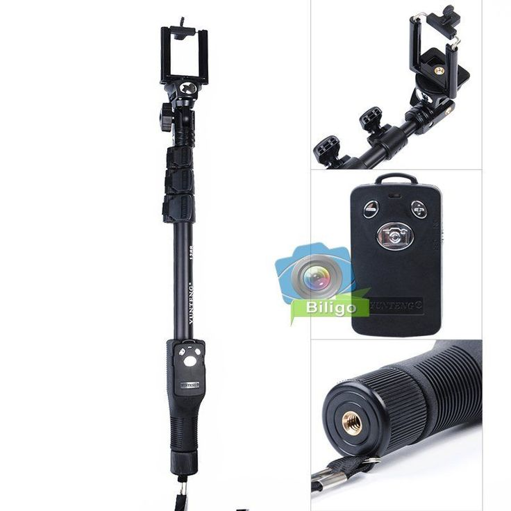 YunTeng YT-1288 Extendable Handheld Monopod +Shutter Remote For Gopro 4 3+ 3 2 1 in Cameras & Photography, Tripods & Supports, Tripods & Monopods | eBay