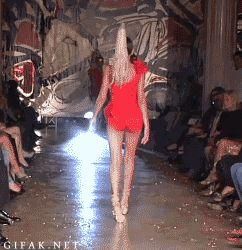 Model ankles walk