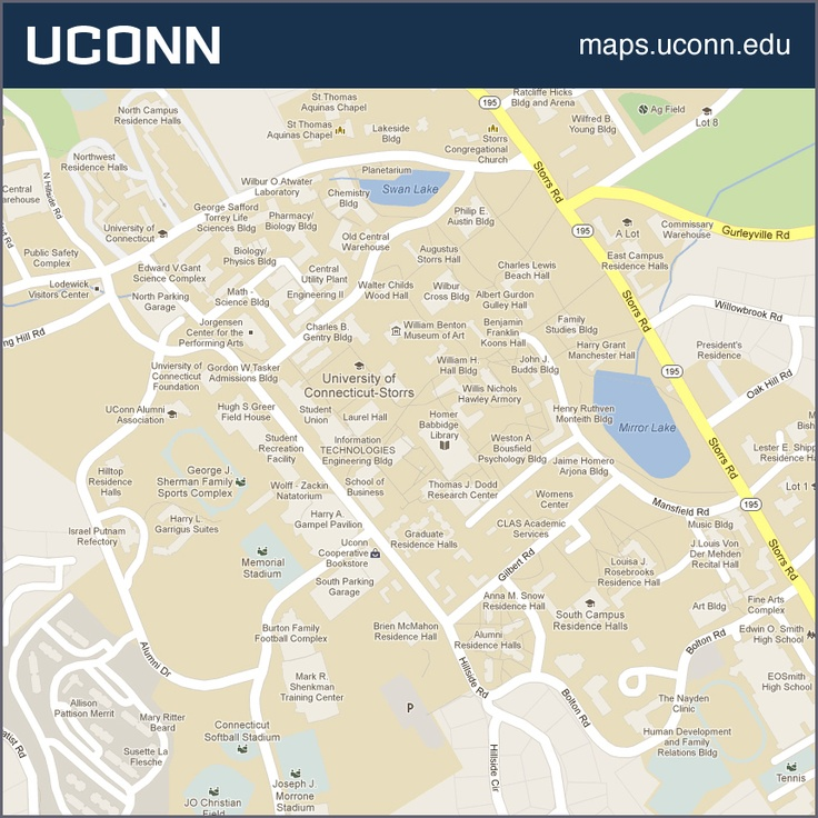 University Of Connecticut Campus Map  Wwwimgarcade