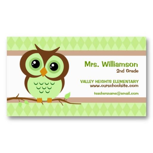 Best Business Cards For Teachers Images On Pinterest Teacher - Teacher business cards templates free