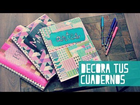 Decora tus cuadernos para el regreso a clases (Anie) - YouTube Mirenlo quedan hermosos y aparte es ello por ti misma y vas a tener cuadernos diferentes q los de tus amigas tienen