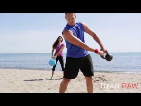 Ryan Raw: Kettlebell Burn 90 Workout - YouTube....THIS WAS GOOD....NOT ALL MOVES USE KETTLE BELLS....ABOUT 22 MINS