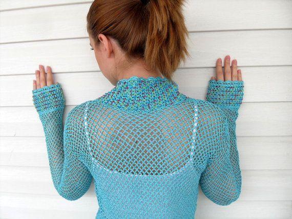 Crochet Vest Summer Top Beach Wear Lace Tank by SmilingKnitting, $45.00
