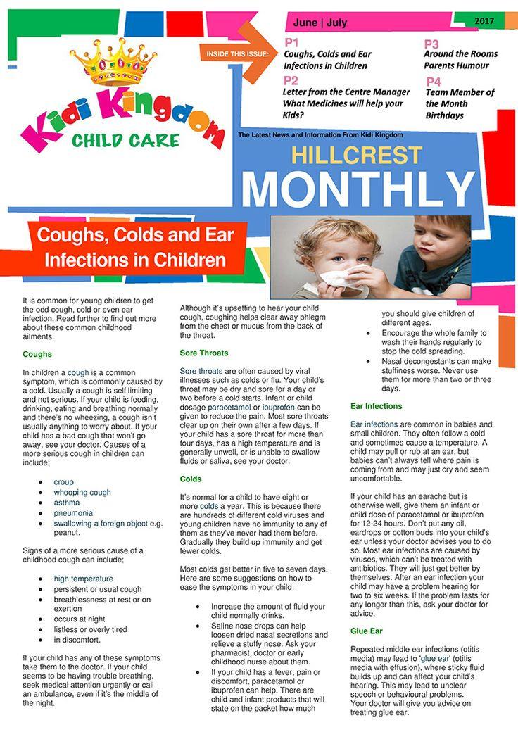 Welcome to the June / July Edition of Kidi Kingdom - Hillcrest News.  #Newsletter #ChildCare #Kindergarten #ChildrenFun #HappyChildren