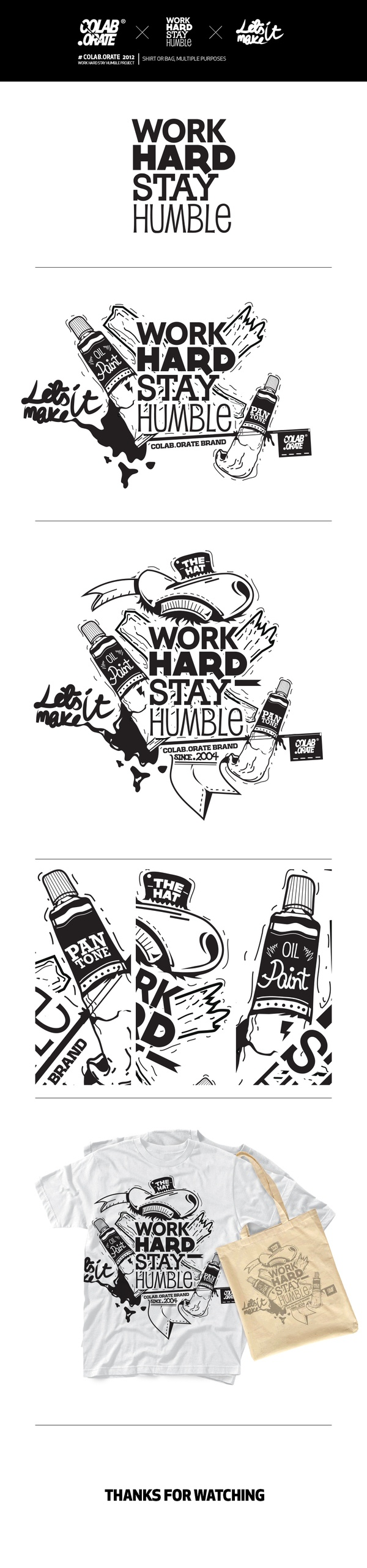 # WORK HARD STAY HUMBLE by Grzegorz Rauch, via Behance