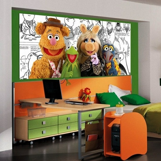 The Muppets Friends_FTDH-0611 http://papeldeparedeonline.com/2013/03/21/murais-panoramicos-disney/