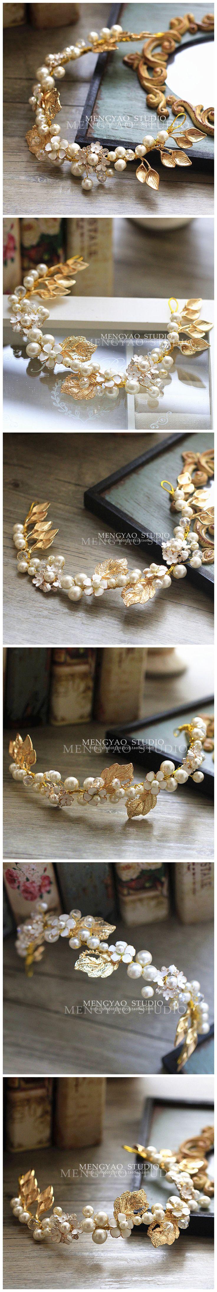 Мэн Яо невесты свадебный головной убор аксессуары для волос корейский ленты для волос заставку ручной работы Свадебные украшения Свадебные аксессуары стиль - Taobao
