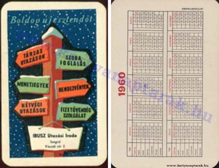 1960 - 1960_0094 - Régi magyar kártyanaptárak