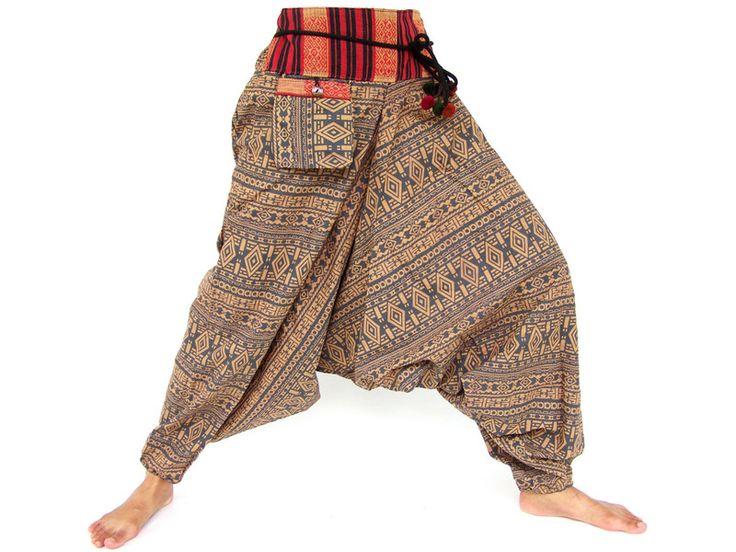Pantalon Aladdin, sarouel, 100% coton de Siamrose Art & Decor sur DaWanda.com