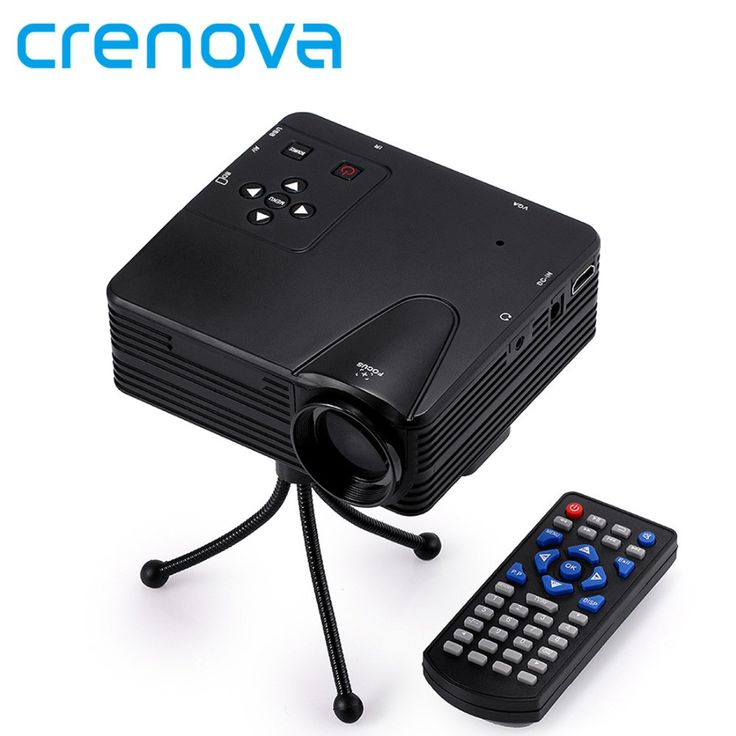 Crenova New Projector 640 x 480 Pixels 800 Lumens Full HD Projector Home Theater 1080P Projection Mini LED Video Proyector