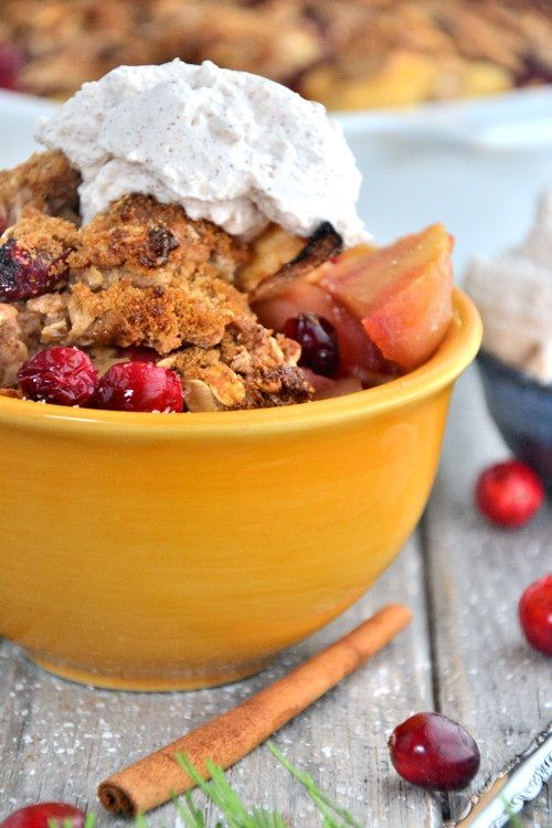 ... know what will! Gluten-free Apple-Cranberry Cobbler from @godairyfree