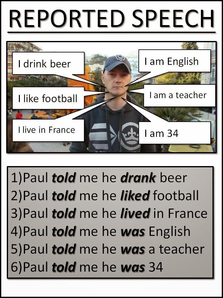 REPORTED SPEECH 1-2