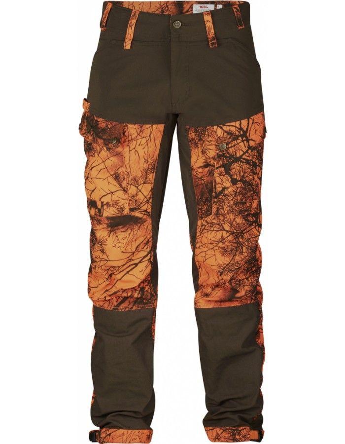 Fjellreven Lappland Hybrid Bukse Camo - Orange Camo