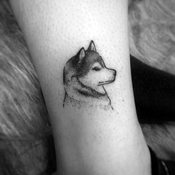80 Siberian Husky Tattoo Designs For Men Dog Ink Ideas Husky