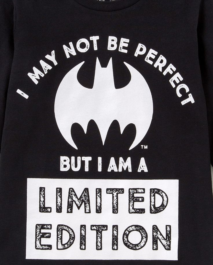 Camiseta de niño Personajes de Batman en negro