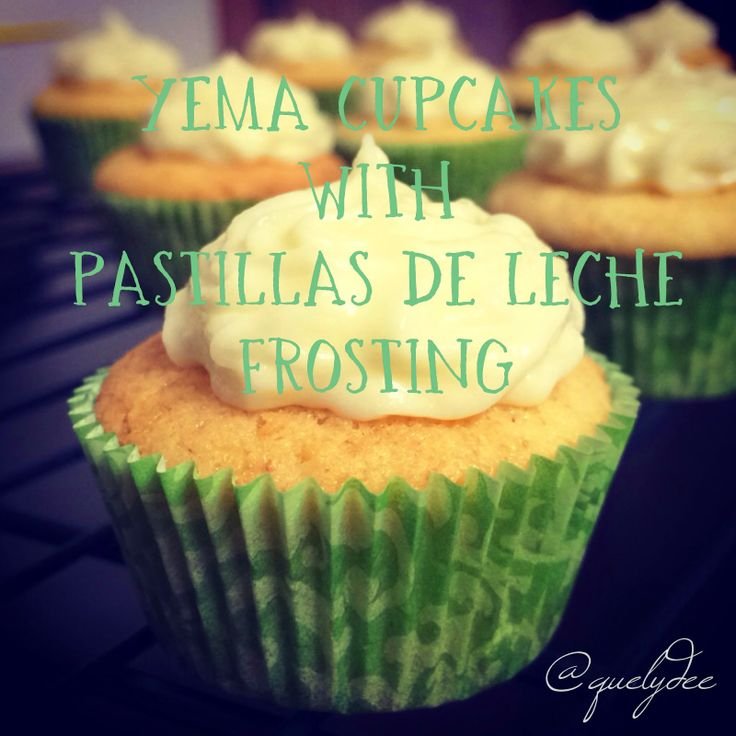 Yema cupcakes with Pastillas de leche frosting. Recipe from Adora's Box.
