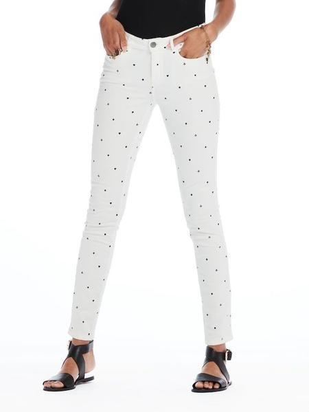 Maison Scotch La Bohemienne White Skinny Pant #MaisonScotch available at atticwomenswear.com