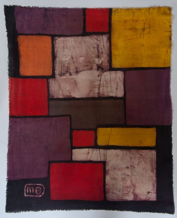 Abstract I batik painting by ManufactureBuchwald on Etsy, €99.00