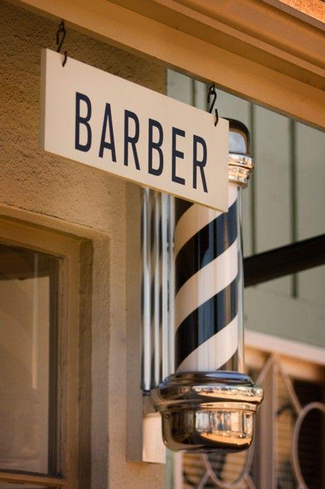Men Clothing, Barbers Pole, Shops Signs, Stores Design, Men Fashion, Black White, Barbershop, Barbers Shops, Stylish Men