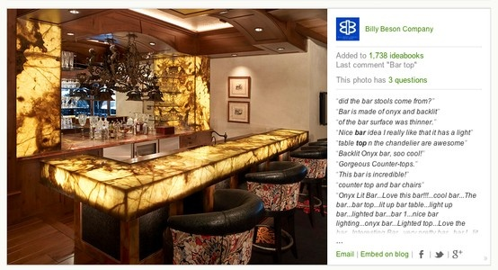 Onyx and backlighting bar top ideas bars pinterest Bar top ideas