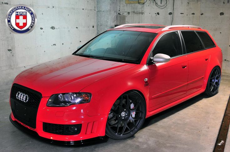 OMG! Candy red Audi S4 hatchback.