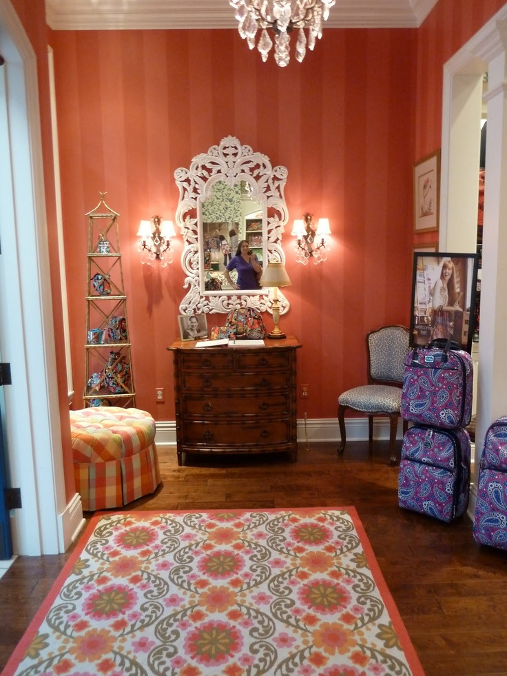 vera bradley store- would love to decorate my house like this.