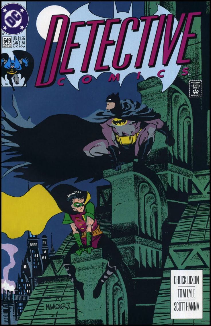 I own & love this cover! Top 100 Comic Book Covers | Matt Wagner — Detective Comics # 649 — 1992