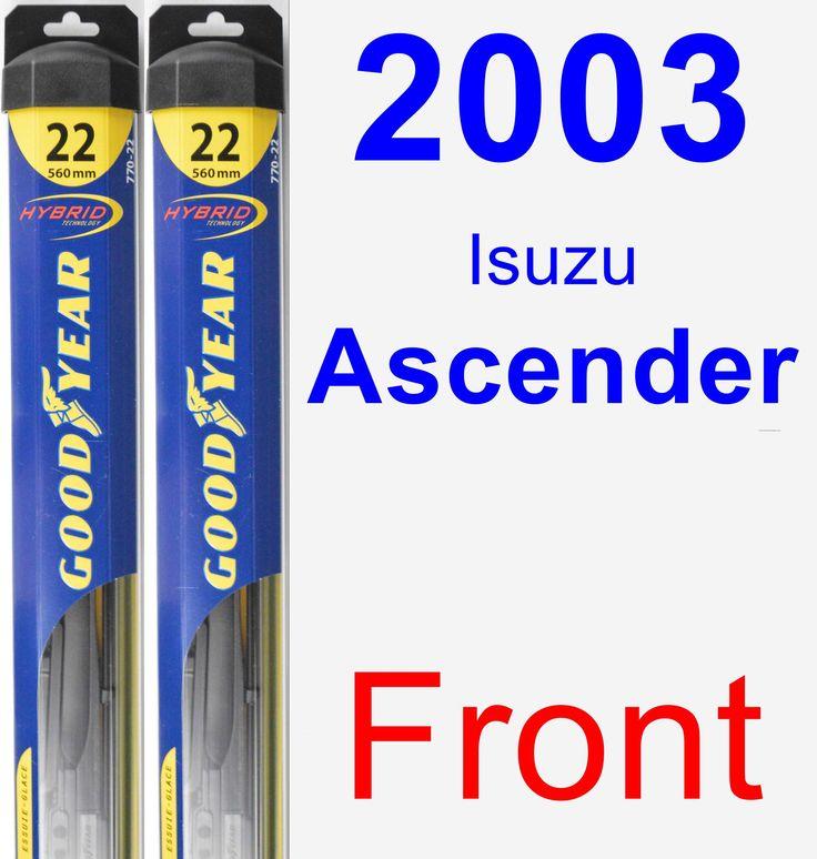 Front Wiper Blade Pack for 2003 Isuzu Ascender - Hybrid