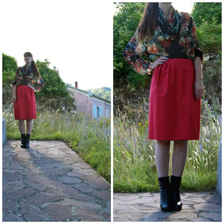 #fashion #roses #fashion #blouse #girl #ed #skirt #romantic #cool #homemade #madeinitaly #style