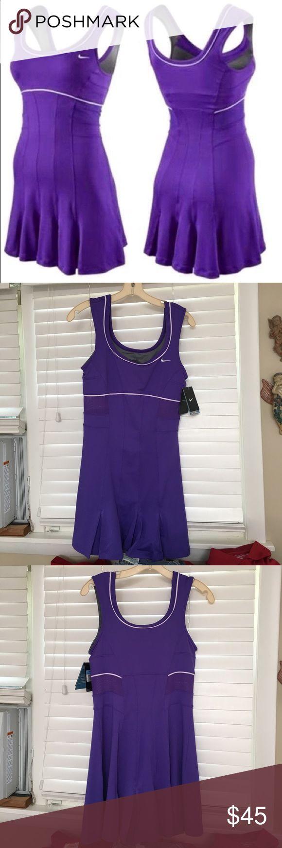 Brand New Women's Nike Dress BRAND NWT Purple Women's Nike dress. AUTHENTIC NIKE DRESS. Tags still on, built in sports bra. Nike Other