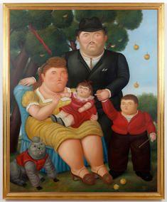 Una familia 1972 fernando botero