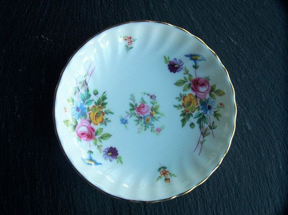 Minton Fine Bone China Dish Marlow Butter Dish Pin by IngliVintage