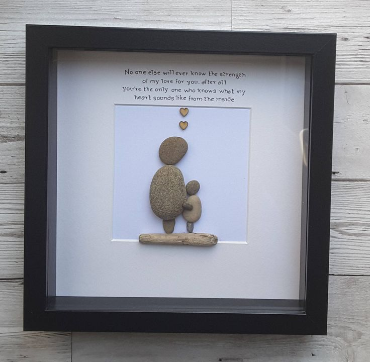 Pebble art picture, gift for mom, gift for mum, gift from daughter, gift for wife, mom birthday gift, sentimental gifts, Christmas gifts, by CoastalPebblesShop on Etsy