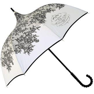 Ivory Boutique Lace Pagoda Umbrella by Chantal Thomass