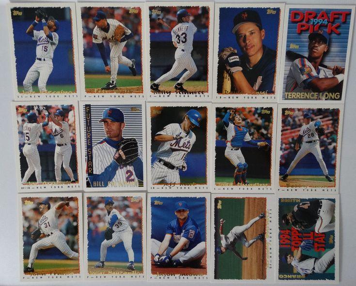 1995 Topps Series 1 New York Mets Team Set of 15 Baseball Cards #topps #NewYorkMets