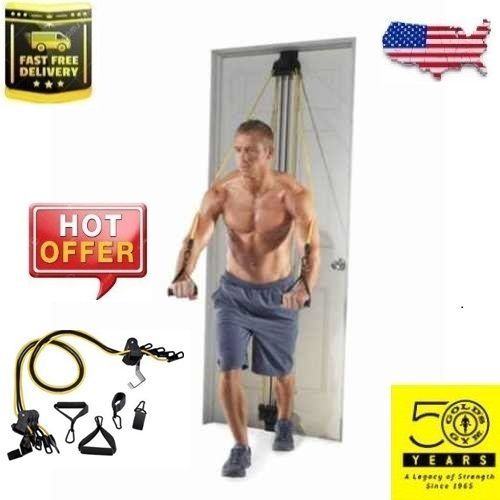 Gold-039-s-Gym-Total-Body-Training-Home-Resistance-4-Bands-2-Padded-Handles-2-Straps