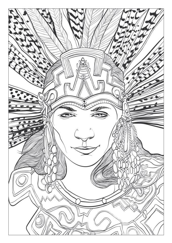 7 best Coloriage MAYAS AZTEQUES