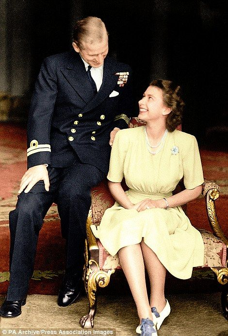 The engagement of Princess Elizabeth to Lieutenant Philip Mountbatten is announced and the...